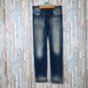 Yohji Yamamoto 28 Slim Straight Faded Jean 32 x 33